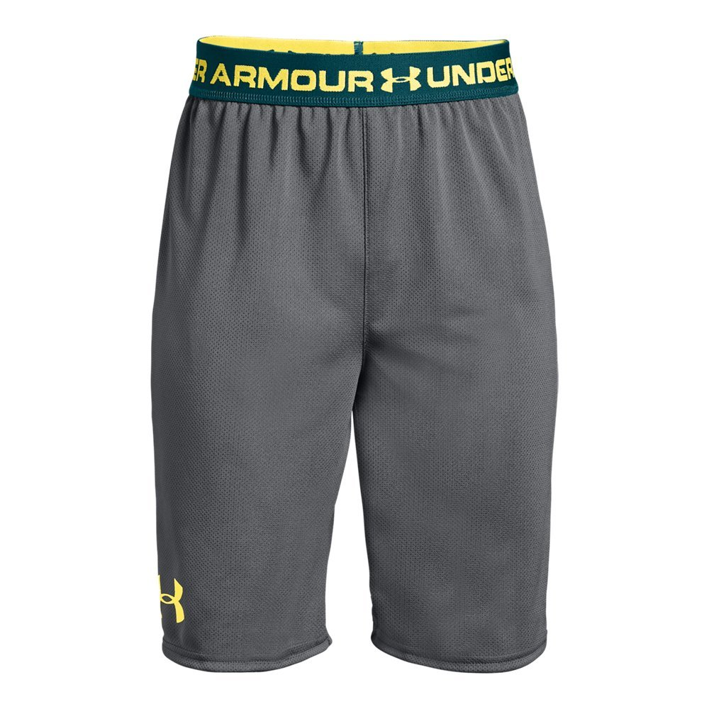 Under Armour Boys' Tech Prototype 2.0 Shorts, Graphite (041)/Tokyo Lemon, Youth X-Small