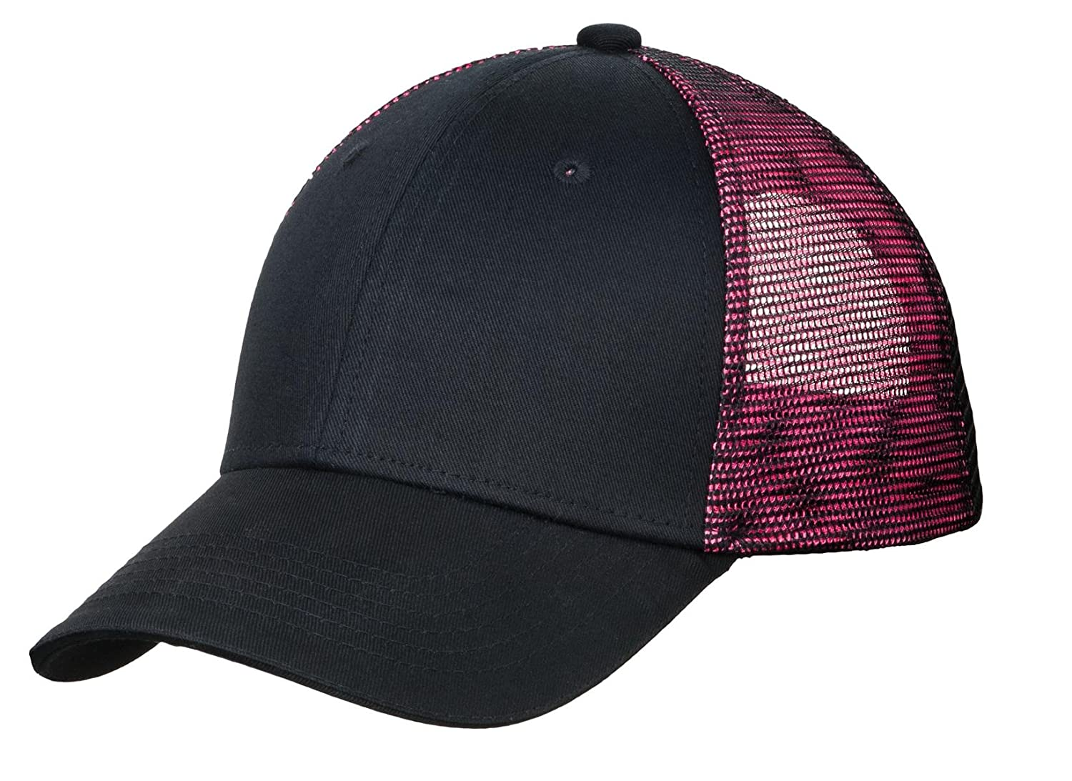 e677a4f5530 Amazon.com  Port Authority Men s Double Mesh Snapback Sandwich Bill Cap  OSFA Black  Red  Sports   Outdoors