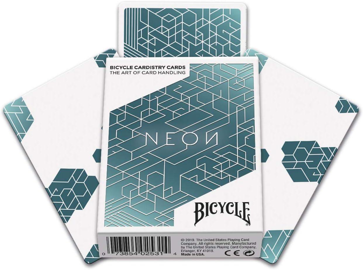 Naipes Heraclio Fournier-Bicycle Neon Baraja de Cartas para Cardistry Color Azul 1044643