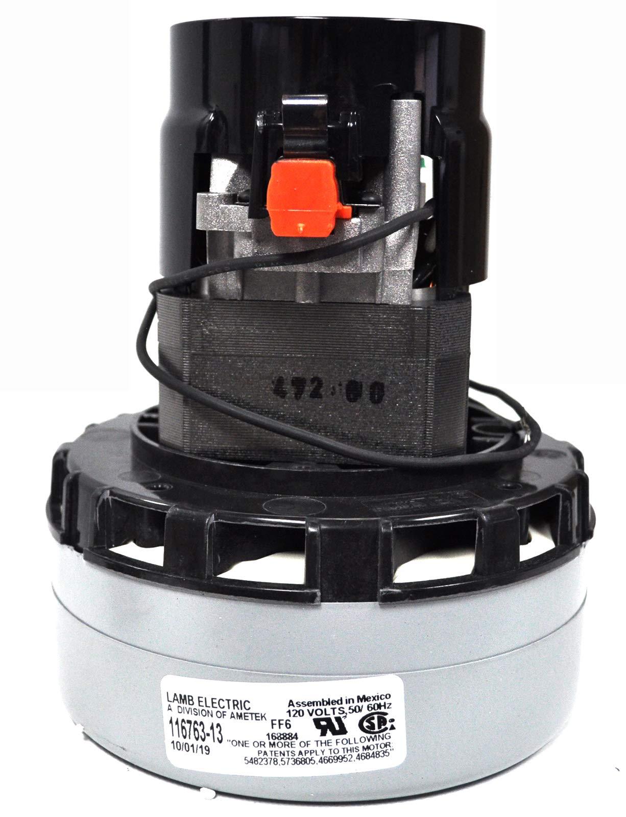 Ametek Lamb 5.7 Inch 2 Stage 120 Volt B/B Peripheral Bypass Motor 116763-13 by Ametek