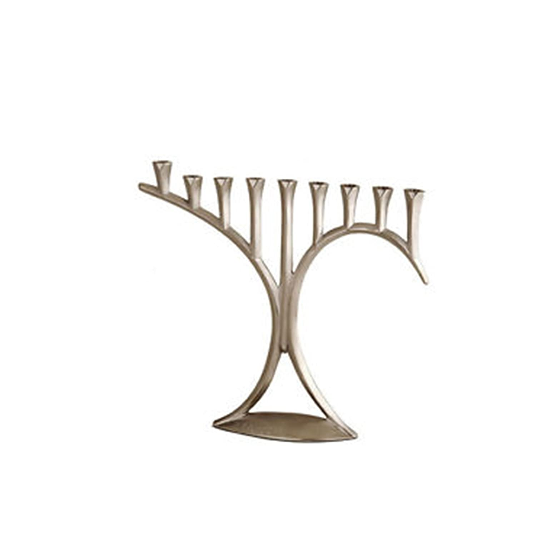 Insideretail 20 x 9 x 20 cm de candelabro a presión de Aluminio con Acabado de estaño 501771