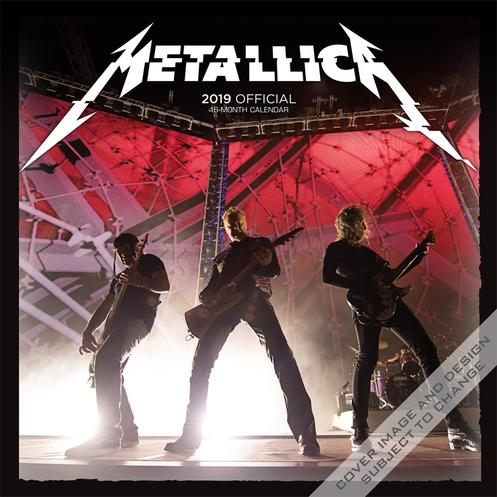 Metallica 2019 12 x 12 Inch Monthly Square Wall Calendar by Merch Traffic, Music Thrash Metal Rock Band Celebrity by BrownTrout Publishers