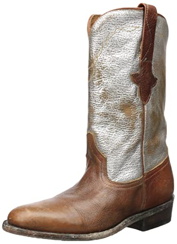 e3b06de48e6 Amazon.com: Ash Women's Jeff Western Boot, Tobacco/Silver, 37 M EU/7 ...