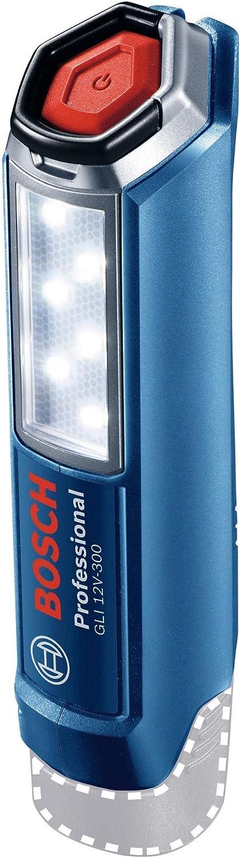 Bosch Professional GLI 12V-300 - Linterna a batería (12V, 300 lúmenes, sin batería, en caja)