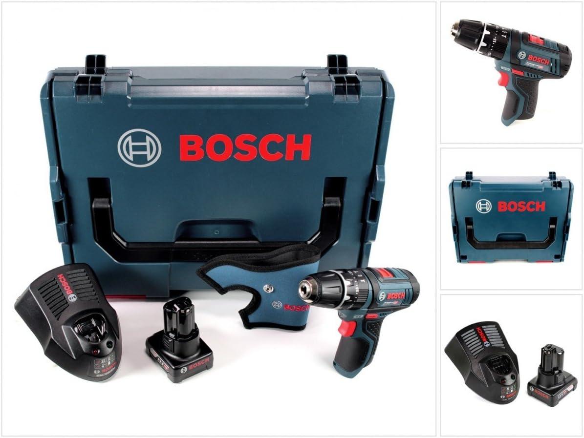 Bosch GSB 12V-15 - Taladro atornillador de impacto (12 V, 30 Nm, L-Boxx, 1 batería de 6,0 Ah, 1 cargador)