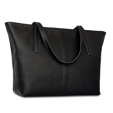 Amazon.com: Expatrié Vegan Leather Women's Handbag Shopper Tote ...
