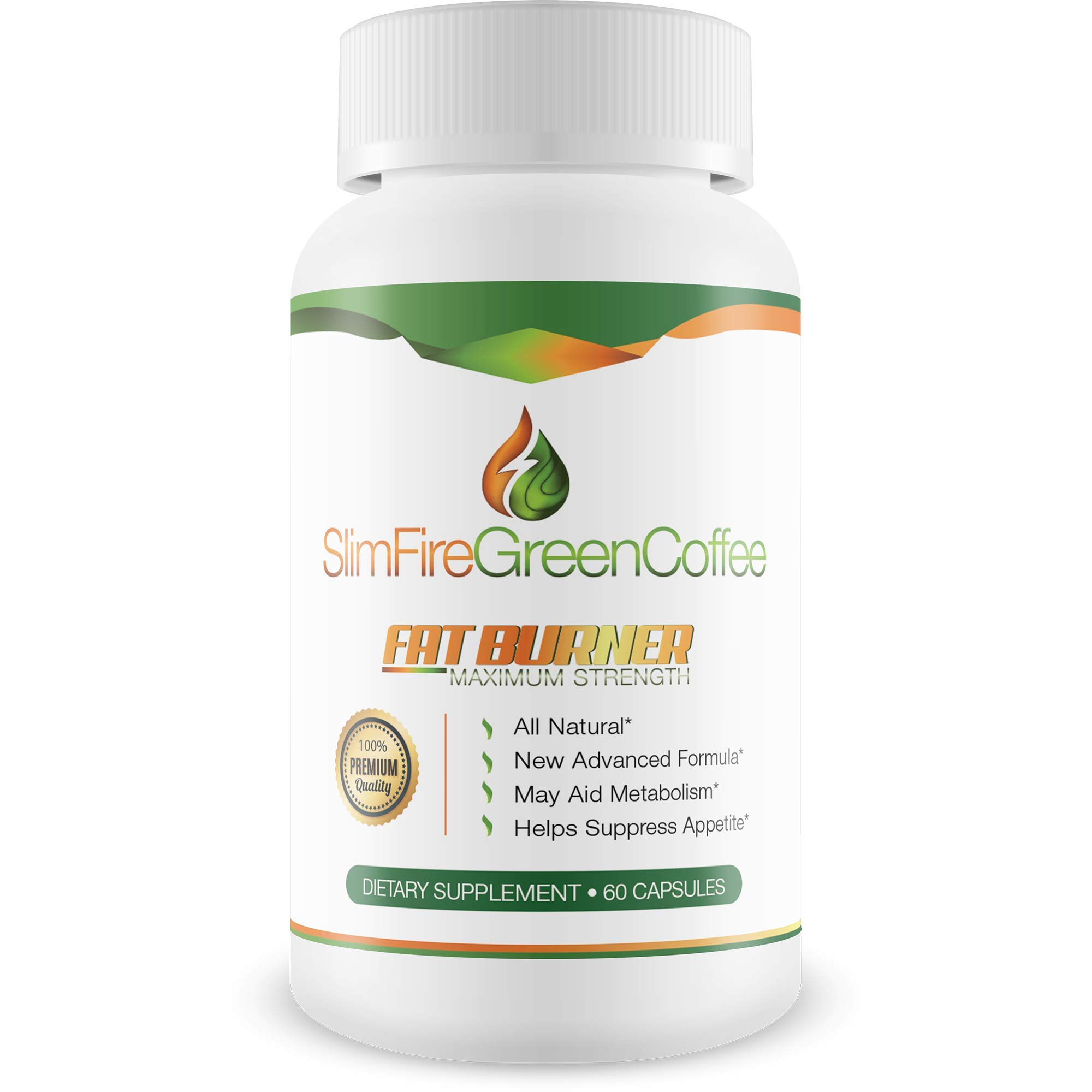 Slim Fire Green Coffee- Green Coffee- Ultra Premium Weight Management Formula-Natural And Potent Weight Loss Pills For Men And Women - Burn Belly Fat - Metabolism Booster - Powerful Antioxidant