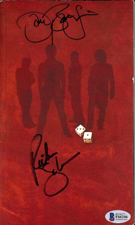 Jon Bon Jovi & Richie Sambora Autographed Signed Memorabilia Hard Rock Booklet Autographed Signed Memorabilia Beckett #F66346