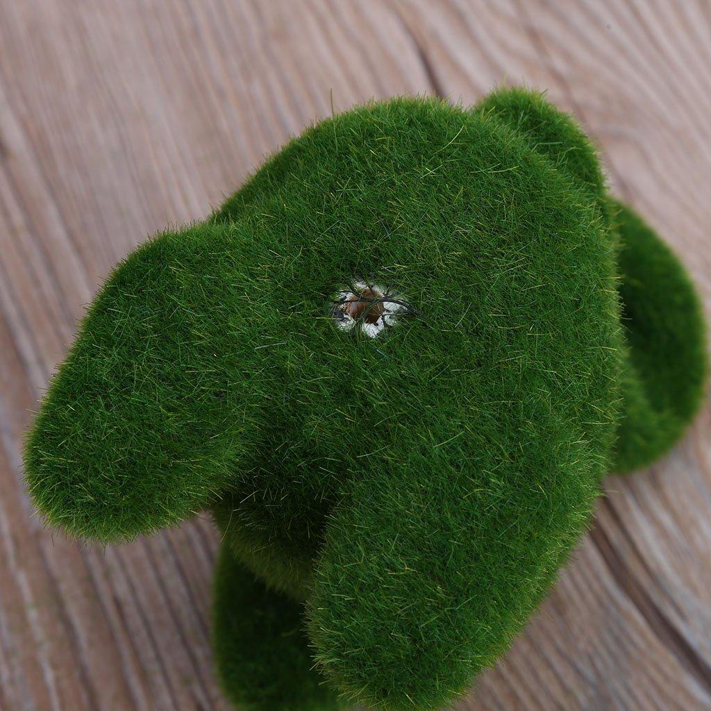 D/écoration pour Bonsa/ï Bureau Accueil Lunji Paysage Miniature Gazon Lapin Artificiel Doux /Écureuil: 10x11cm