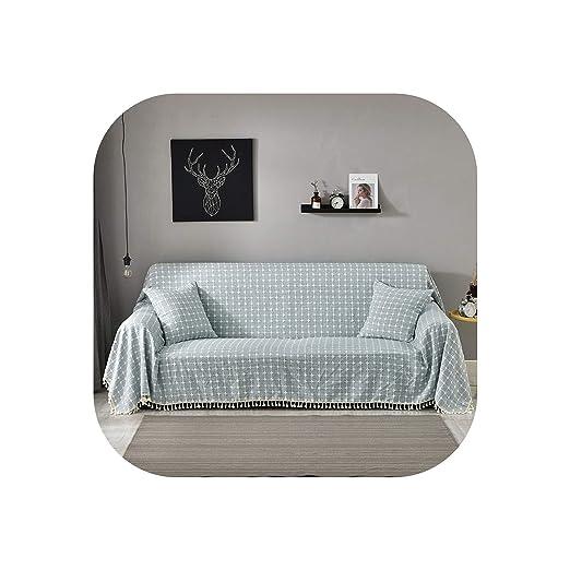 MoMo-Sofa Cushion Funda de sofá de Color Puro con Entramado ...