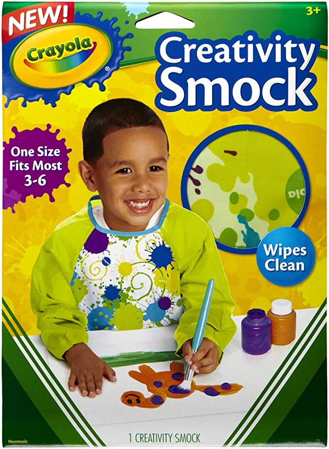 Painting Supplies 5 Crayola Art Smock for Kids Assorted Kids At Home Activities Gift Ages 3 Painting Supplies 6 /& Washable Kids Paint 6 Count 4