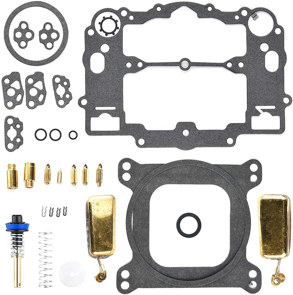 QAZAKY Replacement for Carburetor Rebuild Kit Edelbrock 1400 1404 1405 1406 1407 1409 1411 1477 Automotive 500 600 650 700 750 800 CFM Weber Marine Carb Mercruiser 809064 Carter 9000 Series AFB 4 BBL