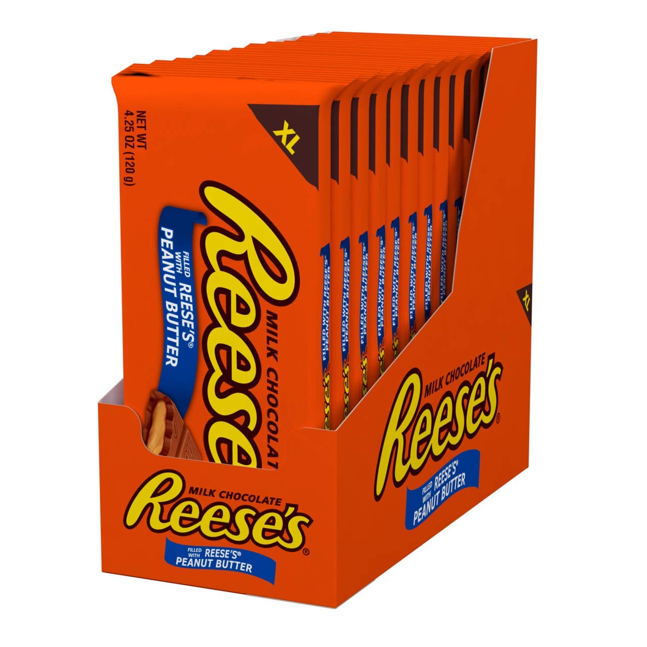 REESE'S Chocolate Candy Bars with Peanut Butter, Extra Large, 4.25 Ounce (Pack of 12) by Reese's