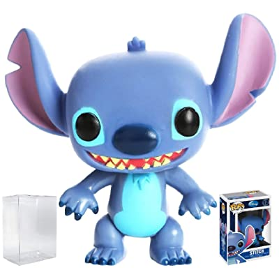 Funko Pop! Disney Series 1: Stitch Vinyl Figure (Bundled with Pop Box Protector Case): Toys & Games