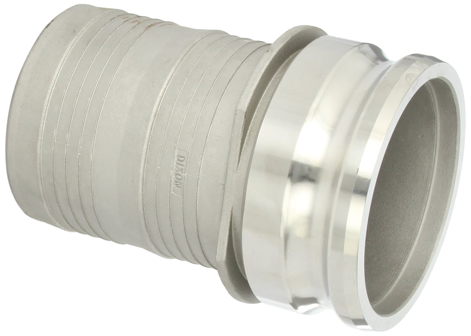 Dixon RE400NO Stainless Steel 316 Boss-Lock Type E Notched Cam and Groove Hose Fitting, 4'' Plug x 4'' Hose ID Barbed