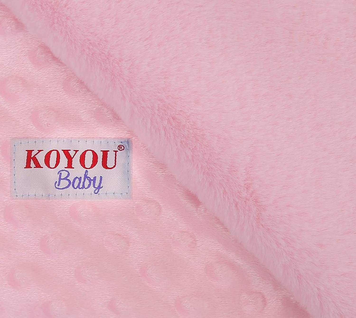 KOYOU Baby Purple Super Soft Minky Plush Reversible Double Layer 30 x 35 Baby Blanket with Dotted Backing and Silky Trim