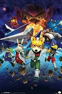 340331 Star Fox Space Battle Fox McCloud Arwing Super Nintendo Gamecube Wii U Charac Decor Wall 24x18 Poster Print