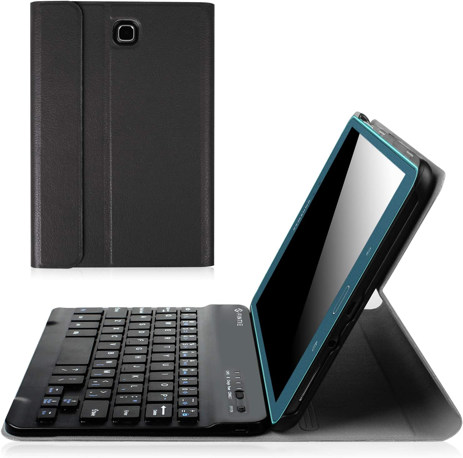 Fintie Keyboard Case for Samsung Galaxy Tab A 8.0 (2015), Slim Shell Stand Cover w/Magnetically Detachable Bluetooth Keyboard for Tab A 8.0 SM-T350/P350 2015 (NOT Fit 2017/2018 Version), Black