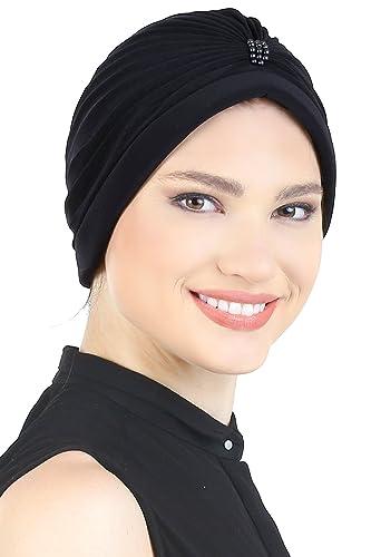 Pearl Turbante dettagliata per perdita dei capelli per la perdita di capelli, chemio, il cancro