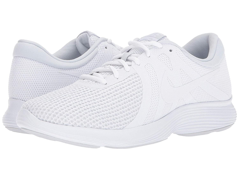 NIKE Men's Revolution 4 Running Shoe White Pure Platinum 10 4E US
