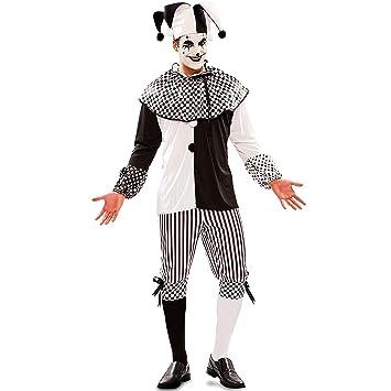 Disfraz de Arlequín Blanco y Negro para hombre: Amazon.es ...