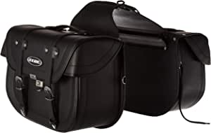 Oxide Deluxe Tek Leather Motorcycle Panniers Saddle Bags, Cruiser Travel Bags WS-1000