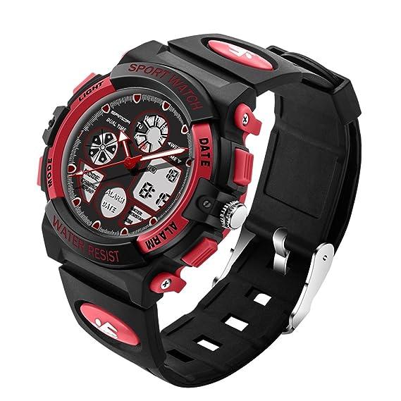 Gao Reloj deportivo digital para hombre, impermeable Reloj deportivo al aire libre con cronómetro Reloj