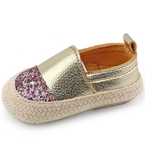 c0b08bb40726 CCTWINS KIDS Toddler Infant Girl Boy First Walker Shoes(G1144-gold-14)