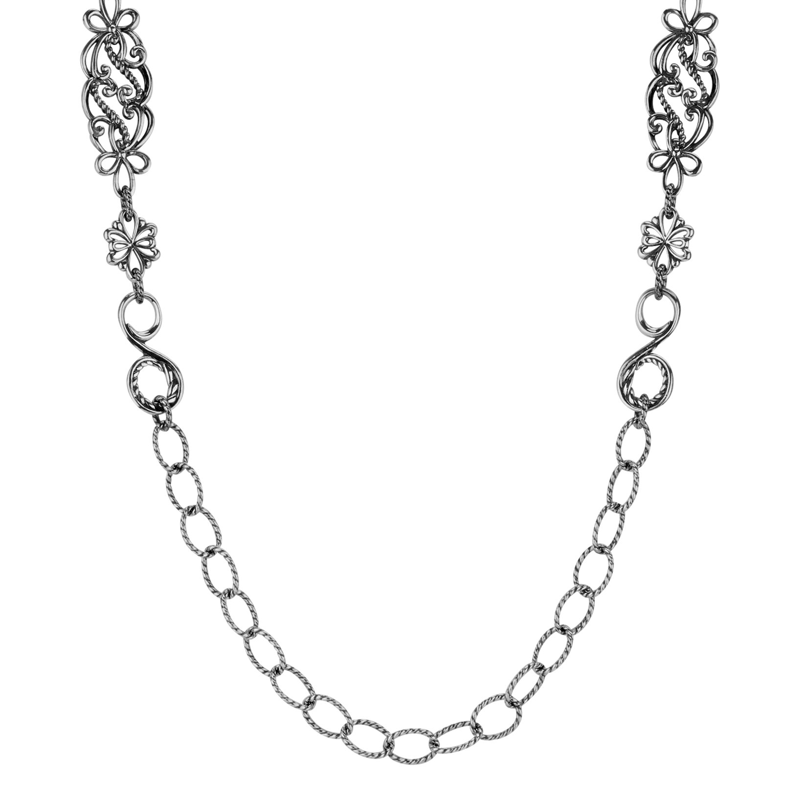 Carolyn Pollack Signature Sterling Silver Link Necklace