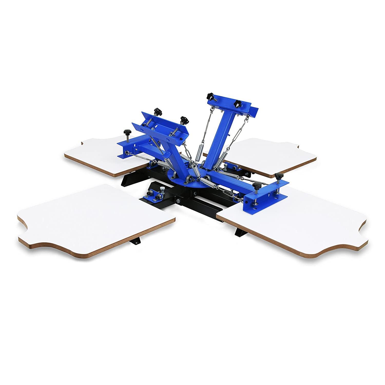 Superland Screen Printing Machine 1 Color Silk Screen Printing Machine 1 Station Screen Printing Press Double Spring T-Shirt Press DIY (1 Color 1 Station)