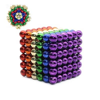 3T6B Potente imán Rompecabezas Bola pequeña Bola Creativa mágica Cubo presión Regalo 5mm (Colorear): Juguetes y juegos