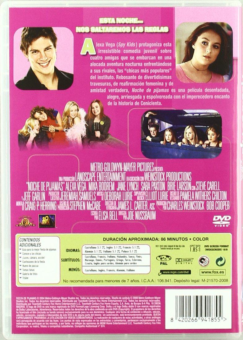 Sleepover [DVD]: Amazon.es: Alexa Vega, Sara Paxton, Mika Boorem, Kallie Flynn Childress, Brie Larson, Sam Huntington, Joe Nussbaum, Bob Cooper, ...