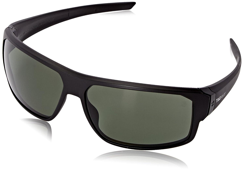 Amazon.com: Tag Heuer Racer2 9223 304 Rectangular Sunglasses, Black ...