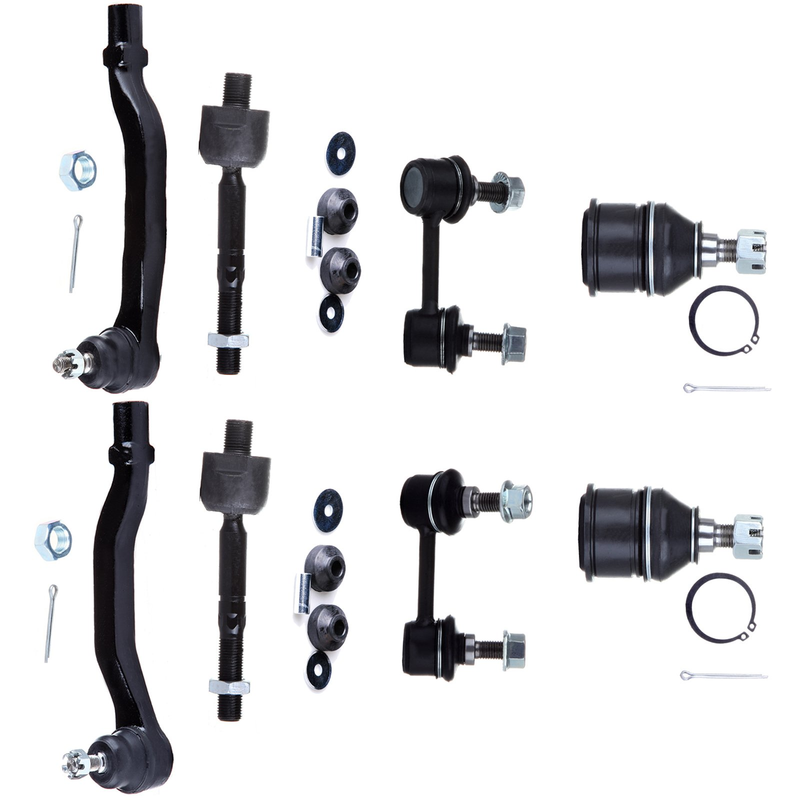 SCITOO 10Pc Ball Joint Sway Bar Link Tie Rod Ends Shock Mounting Kit fit Acura TL/CL Honda Accord