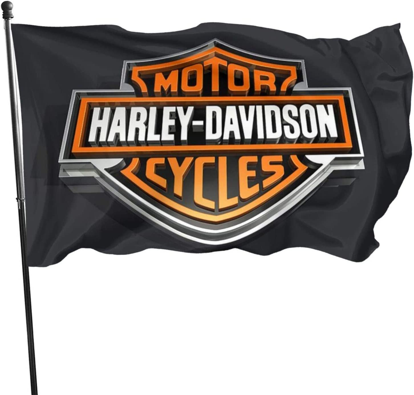 MilkShot Harley Davidson Camping Flag 3x5 ft Decorations Party Supplies,Flags for Home House Outdoor Indoor Decor