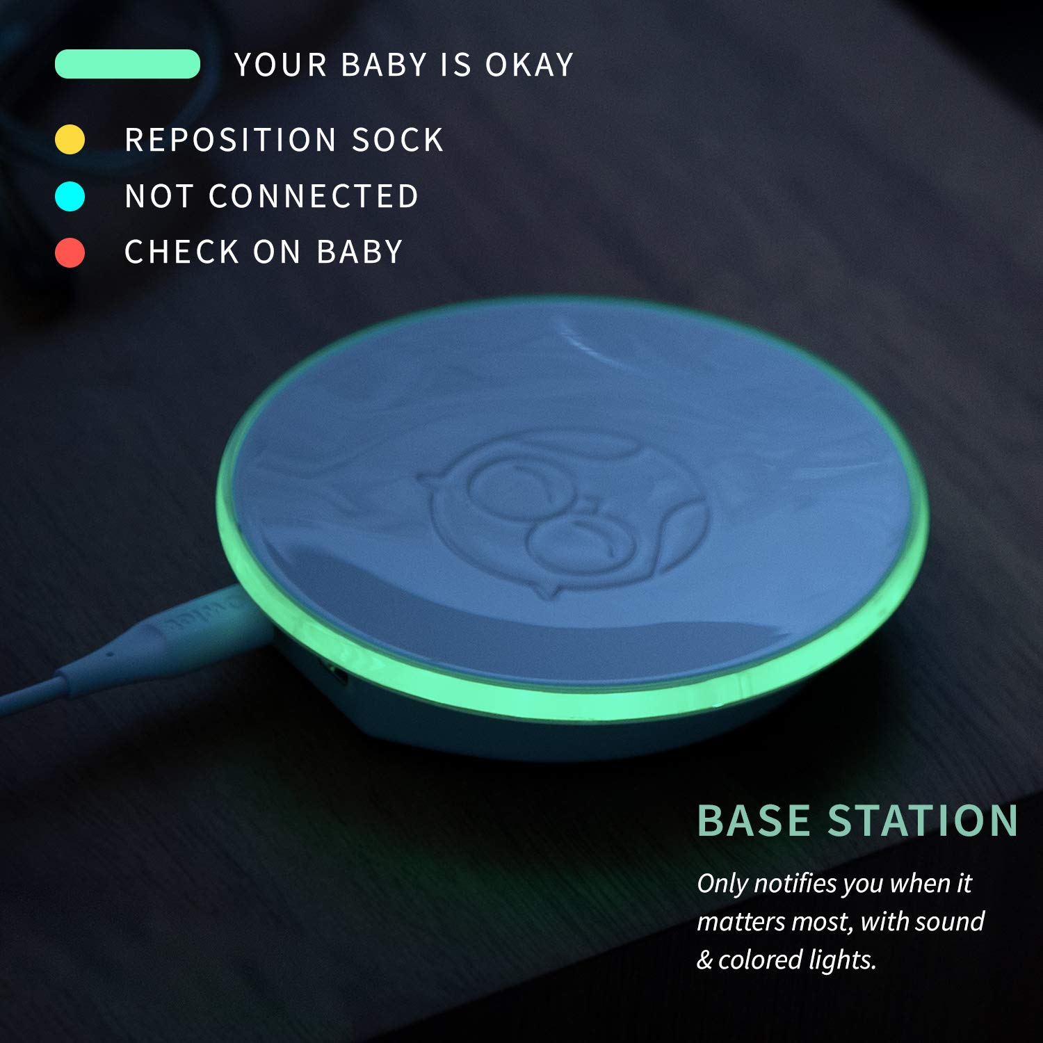 Owlet Baby Monitor - Track Your Infant's Heart Rate & Oxygen Levels - The  Ultimate Baby Monitor for