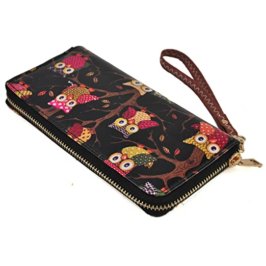 Image Unavailable. Image not available for. Color  Fashion Owl Long Leather  Wallet Purse Clutch Handbag Card Holder for Women 187381e6561d