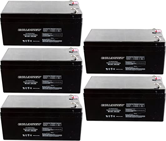 PS1230 12 Volt 3.4AH Power Sonic Rechargeable Lead Acid Battery Alarms Scooters