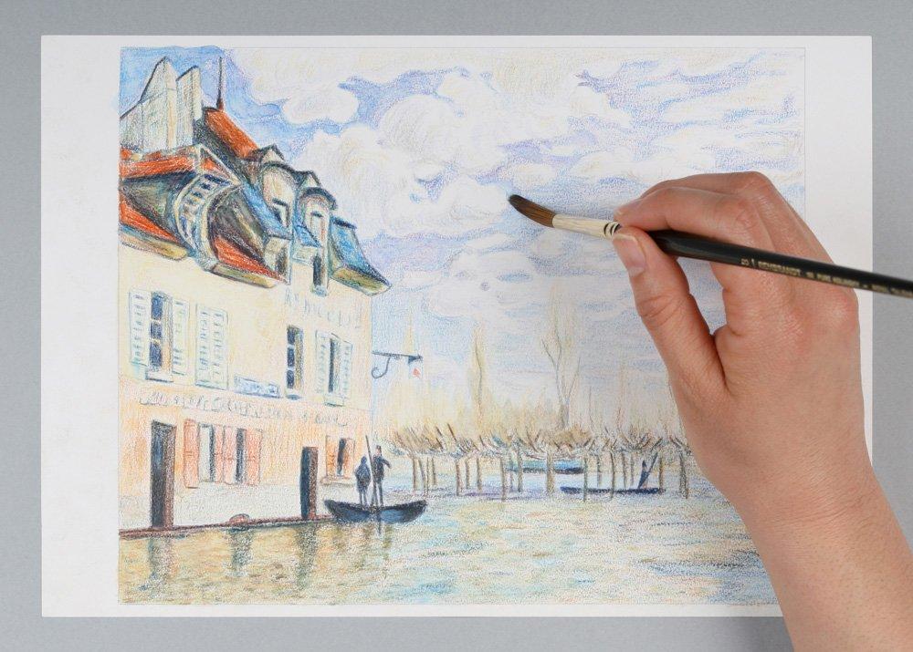 VAN GOGH Pencil 60 colored pencil Metal Case by Van Gogh (Image #6)