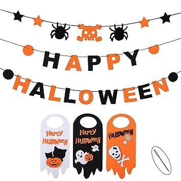 Halloween /'Happy Halloween/' Pumpkin Shaped Letter Banner Great Kids Party Dec