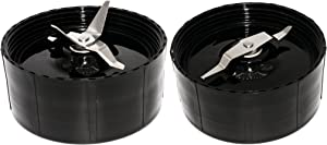 Blendin Replacement Cross and Flat Blades,Compatible with Magic Bullet MB1001 Blenders