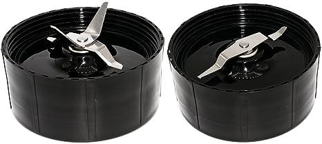 Blendin palas de Cruz y plano de repuesto compatible con Magic Bullet Batidora Exprimidor