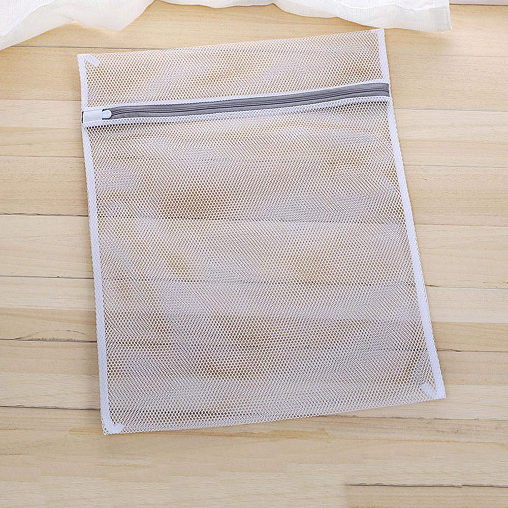 Foonee Laundry Lingerie Bag Mesh Laundry Bags-7 Coarse Mesh, Mesh Wash Bags with Zipper Perfect for Lingerie Bras Underwear Stocking Shirt and Thick Clothing (White, 1 Pcs)