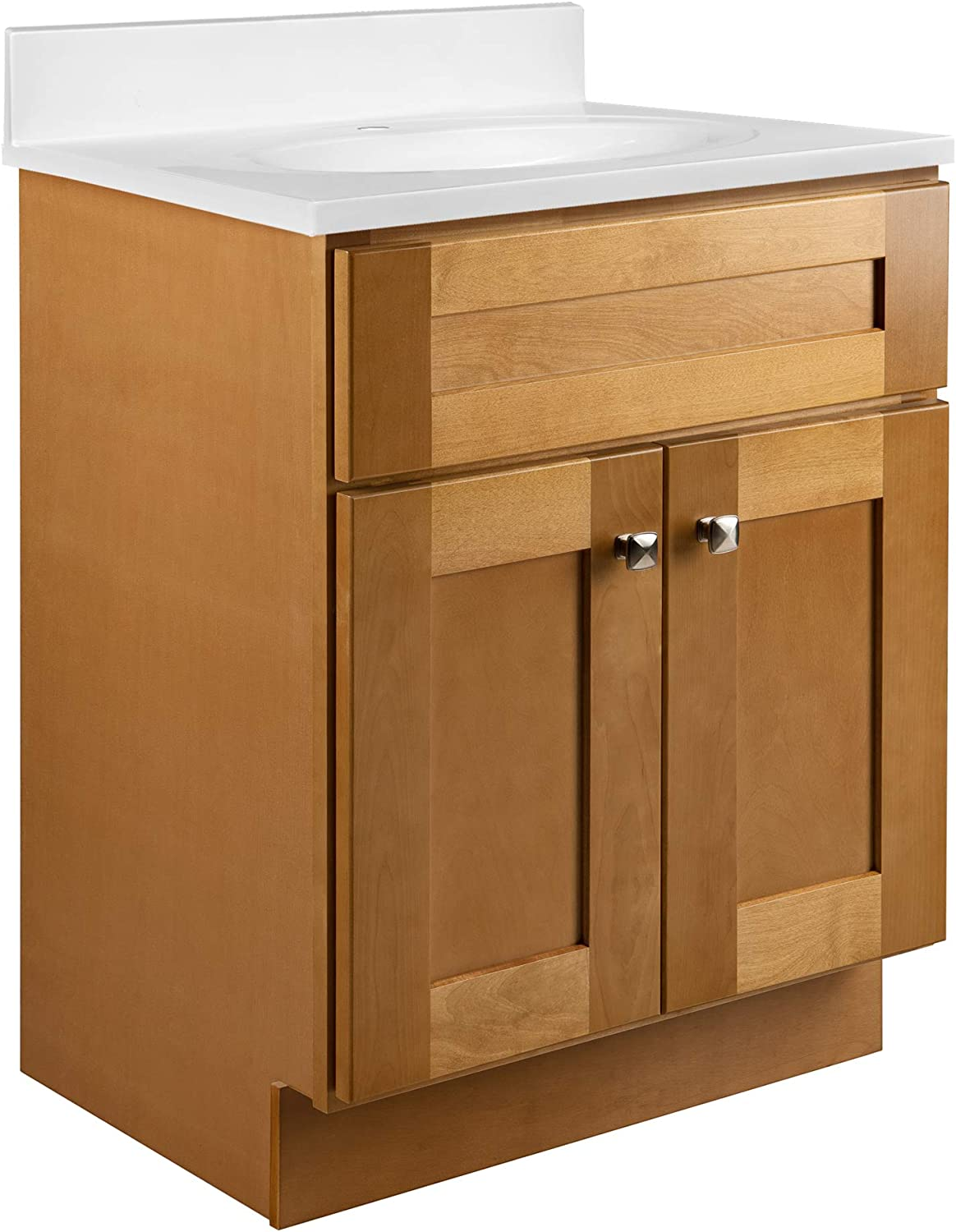 Design House 587105 Brookings Unassembled Shaker Vanity Cabinet Only, 24 x 18, Modern Birch