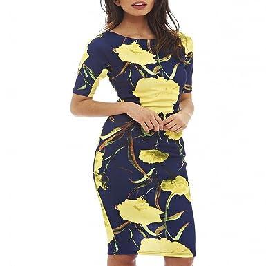 Unique-Shop Casual Dresses Party O-Neck Summer Vestidos Sheath 28 Styles Floral Print