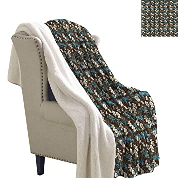 Amazon.com: Manta de franela bohemia estilo arte de color ...