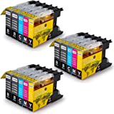 OfficeWorld Replacement for Brother LC1240 LC1280 Ink Cartridges Compatible with Brother MFC-J280W, MFC-J425W, MFC-J430W, MFC-J435W, MFC-J5910DW, MFC-J625DW, MFC-J6510DW, MFC-J6710DW, MFC-J6910DW, MFC-J825DW, MFC-J835DW, DCP-J525W, DCP-J725DW, DCP-J925DW