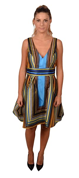 a2577015b1d6 ALLURE Abito Donna cod.2027 Blu Size 42  Amazon.it  Abbigliamento