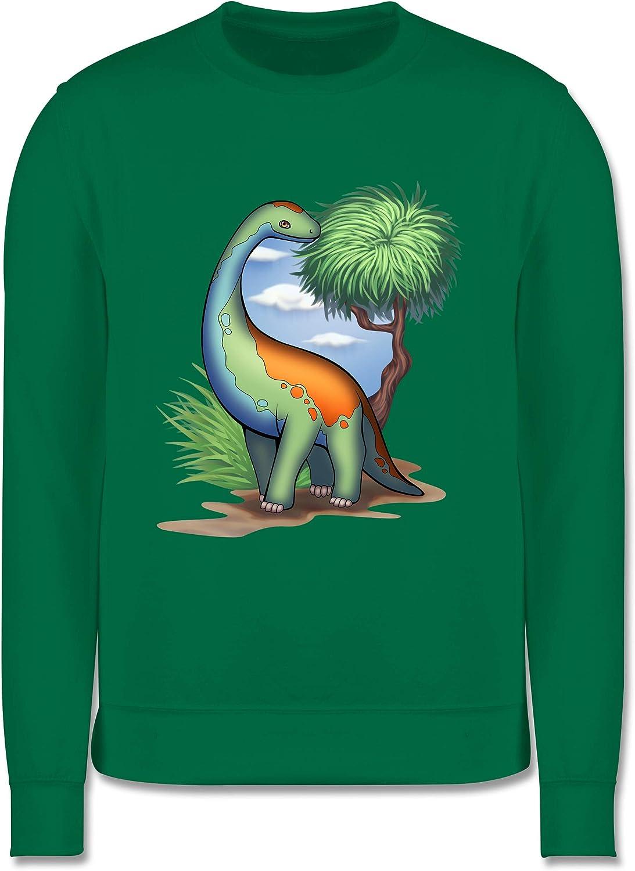 Tiermotive Kind Kinder Pullover Dino Langhals Shirtracer