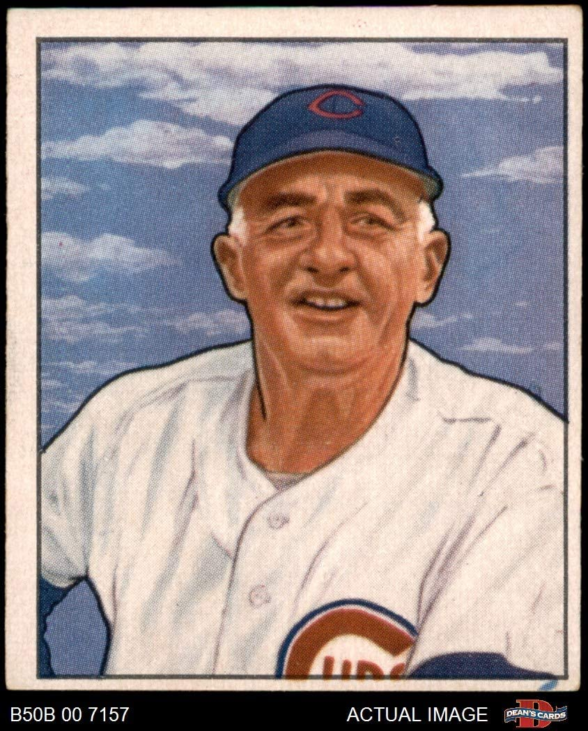 1950 Bowman # 229 CR Frankie Frisch Chicago Cubs (Baseball Card) (with Copyright on Back) Dean's Cards 4 - VG/EX Cubs